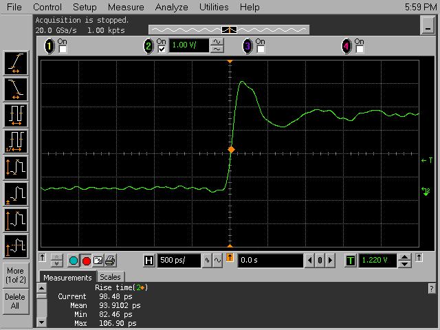 A wideband 1:21 1 kΩ DIY oscilloscope probe